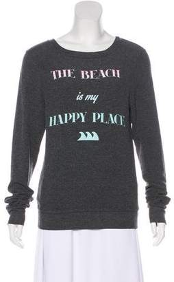 Wildfox Couture Printed Long Sleeve Sweater