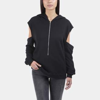 Iro . Jeans Iro Jeans Hachil Back Cut-Out Hooded Sweatshirt