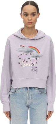 Klsh Kids Love Stain Hands PRINTED COTTON JERSEY SWEATSHIRT HOODIE