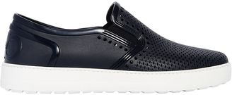 Perforated Rubber Slip On Sneakers $260 thestylecure.com