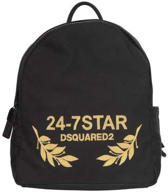 DSQUARED2 Logo Embroidered Canvas Backpack