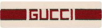 red and white Elastic Gucci stripe headband