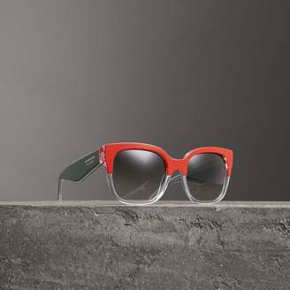 Burberry Two-tone Oversize Square Frame Sunglasses