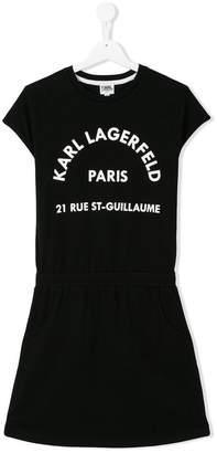 Karl Lagerfeld logo print dress