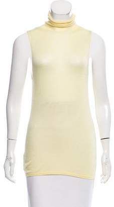 Brunello Cucinelli Sleeveless Cashmere Turtleneck