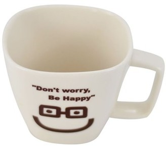 Southern Homewares Don't Worry, Be Happy Ceramic Tea Cup Face 01