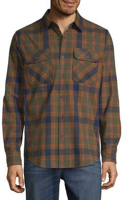 ST. JOHN'S BAY Outdoor Rugged Mens Long Sleeve Flannel Shirt