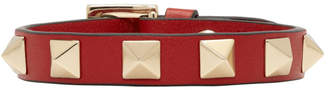 Valentino Red Garavani Single Leather Bracelet