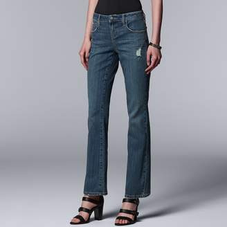 Vera Wang Women's Simply Vera Everyday Luxury Midrise Bootcut Jeans