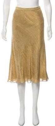 Ralph Lauren Black Label Brocade Midi Skirt