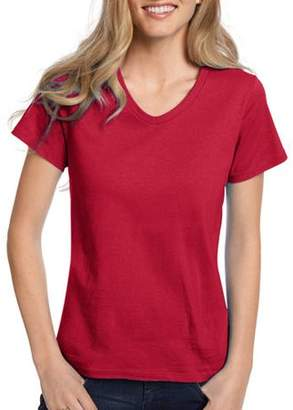 Hanes Women's Comfort Soft Short Sleeve V-neck Tee