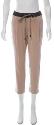 Brunello Cucinelli Silk Mid-Rise Sweatpants