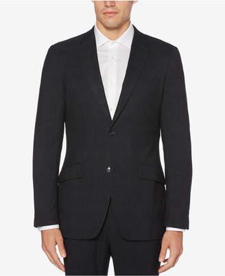 Perry Ellis Men's Very Slim-Fit Plaid Stretch Jacket