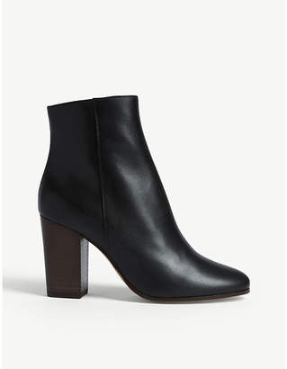 Maje Flixy leather ankle boots