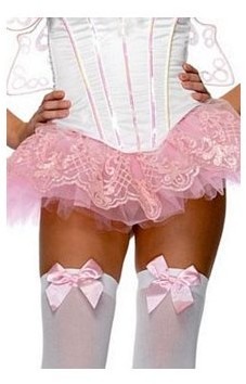 Leg Avenue Women's Glitter Filigree Tutu, Pink, One Size