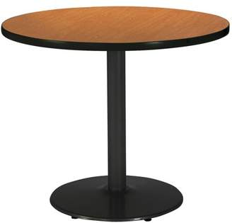 "KFI seating KFI 42"" Round Pedestal Breakroom Table with Multiple Colors Top, Round Black Base"