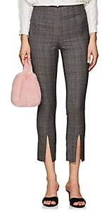 Frame Women's Plaid Wool High-Rise Pants - Gray