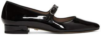 ALEXACHUNG Black Mary Jane Ballerina Flats