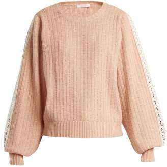 See by Chloe Balloon-sleeved wool-blend sweater