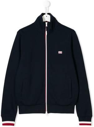 Sun 68 TEEN zipped logo sweatshirt