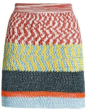 Missoni Metallic Crochet-Knit Mini Skirt