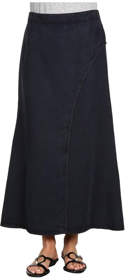 Nic+Zoe Curves Ahead Denim Maxi Skirt (Deep Indigo) - Apparel