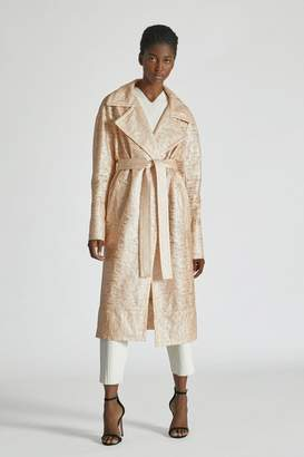 Yigal Azrouel Laminated Lace Trench Coat