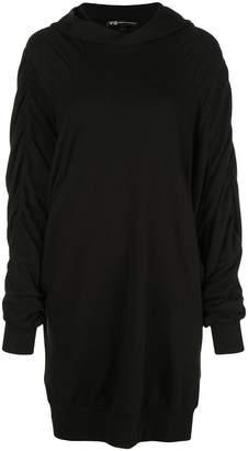 Y-3 long hooded sweatshirt