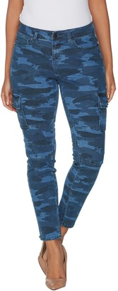 G.I.L.I. Got It Love It G.I.L.I. Regular Indigo Denim Cargo Jegging