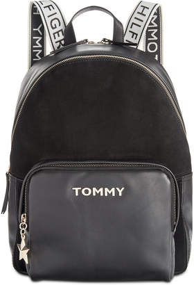 Tommy Hilfiger Corporate Highlight Leather & Suede Backpack