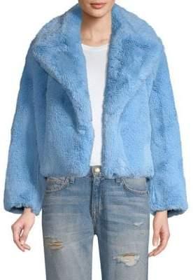 Diane von Furstenberg Faux-Fur Short Jacket