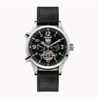 Ingersoll Armstrong Automatic with Stainless Steel Case, Black Dial and Black Leather Strap