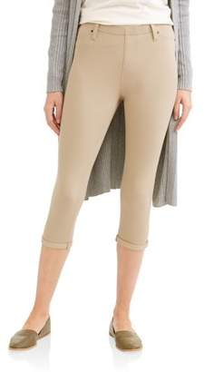 Time and Tru Women's Soft Knit Jegging Capris