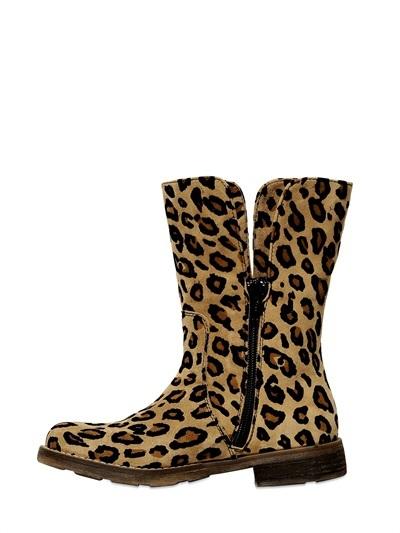 Simonetta Suede Flocked Boots