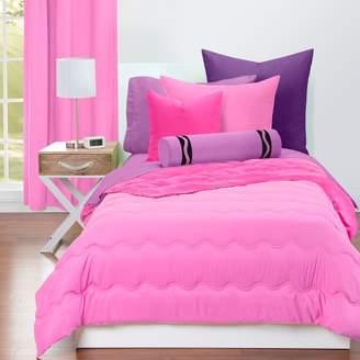 Crayola Pink Flamingo and Hot Magenta Comforter