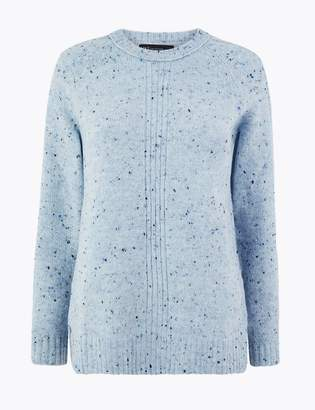 Marks and Spencer Textured Relaxed Fit Jumper