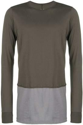 Rick Owens double layer sweatshirt