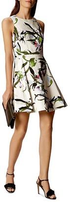 KAREN MILLEN Lily Floral Print Dress $250 thestylecure.com