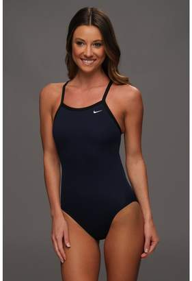 Nike Solid Poly Lingerie Tank One Piece Women's Swimsuits One Piece