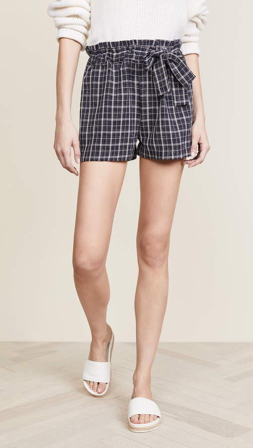 Plaid Tie Shorts