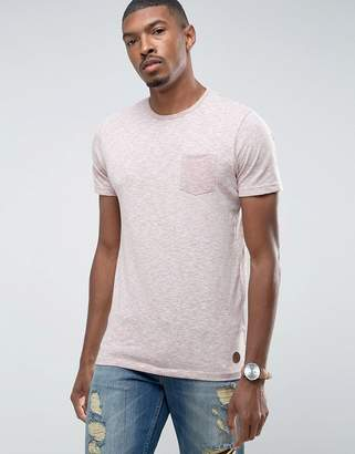 Brave Soul Fleck T-Shirt with Pocket