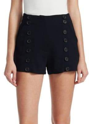 A.L.C. Isaac Crepe Button Midnight Shorts