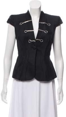 Giorgio Armani Embellished Cap-Sleeve Jacket