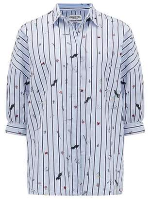 Essentiel Rash Embroidered Shirt in Stratosphere