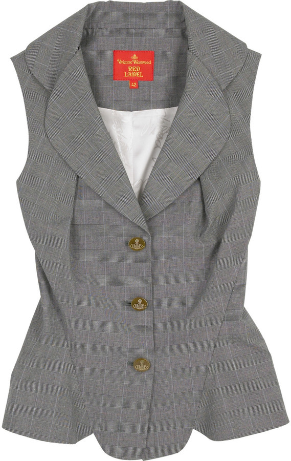 Vivienne Westwood Red Label Checked cotton waistcoat