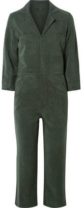 J Brand Traveller Cropped Lyocell Jumpsuit - Army green