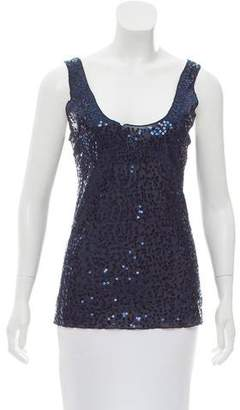 Magaschoni Sleeveless Sequin Top