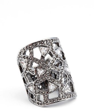 Women's St. John Collection Swarovski Crystal Cocktail Ring $195 thestylecure.com