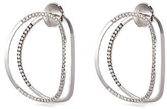 Delfina Delettrez 'Little EARclipse' diamond 18k white gold earrings