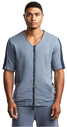True Religion MENS ZIP UP BASEBALL ACTIVE TOP